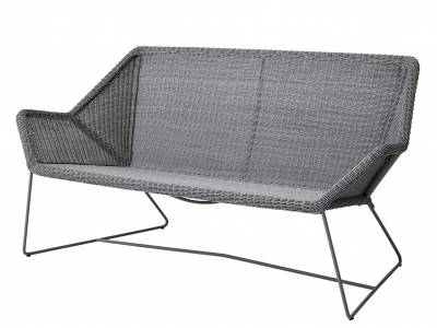 Cane-line Breeze 2 Sitzer Loungesofa, light grey