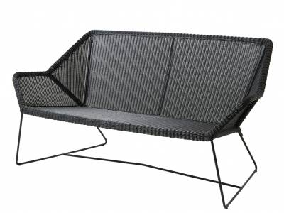 Cane-line Breeze 2 Sitzer Loungesofa, schwarz