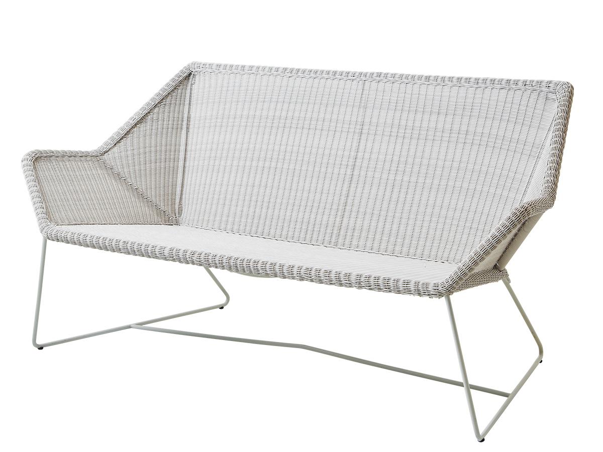 cane line breeze 2 sitzer loungesofa weiss gartenm bel hamburg shop. Black Bedroom Furniture Sets. Home Design Ideas