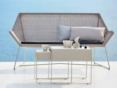 Cane-line Breeze 2 Sitzer Loungesofa, weiss