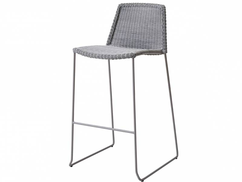 Cane-line Breeze Barhocker, stapelbar, light grey