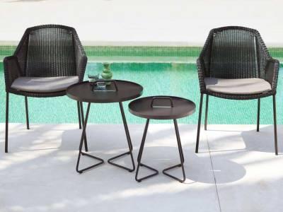 Cane-line Breeze Gartenstuhl schwarz, stapelbar