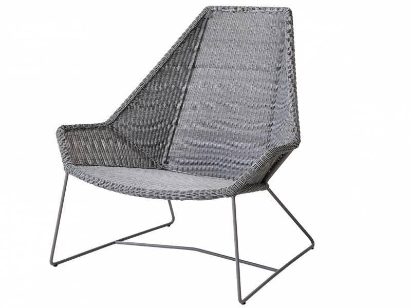 Cane-line Breeze Highbacksessel, light grey