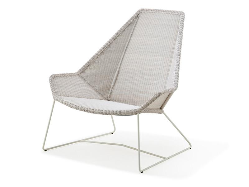 cane line breeze highbacksessel weiss grau gartenm bel. Black Bedroom Furniture Sets. Home Design Ideas