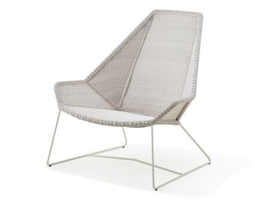 Cane-line Breeze Highbacksessel, weiss-grau