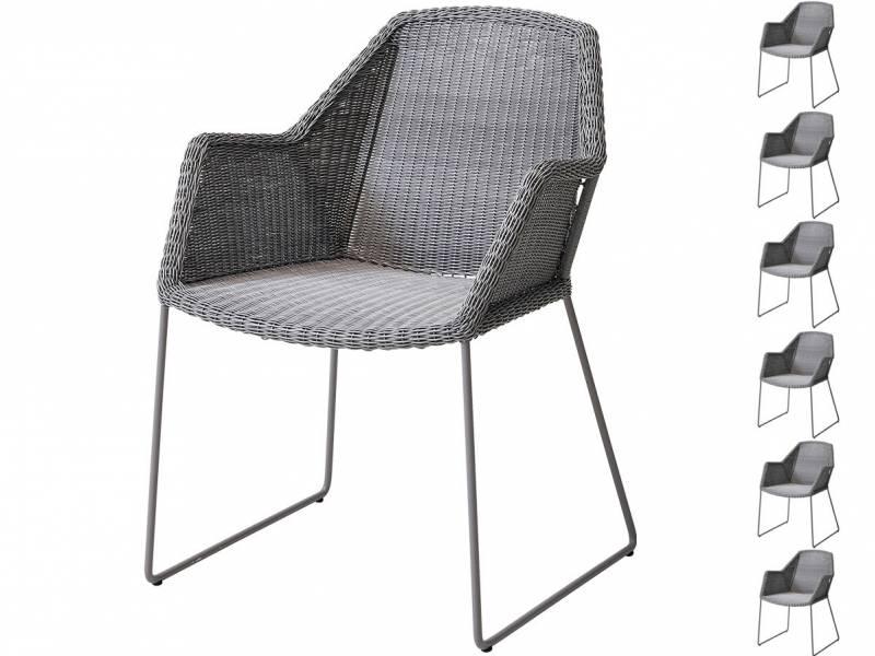 Cane-line Breeze Sessel, light grey AKTIONS-SET 6 Stück für 5