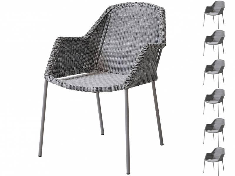 Cane-line Breeze Sessel, stapelbar light grey - AKTIONS-SET 6 Stück für 5
