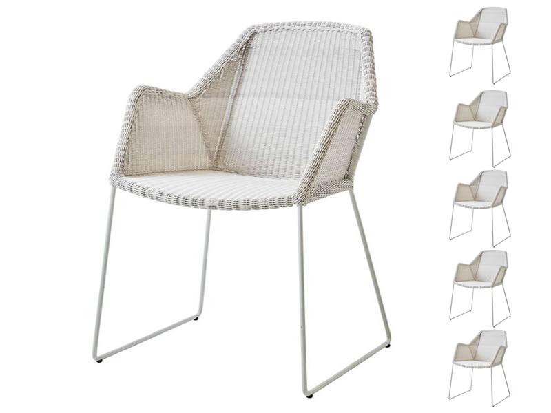 Cane-line Breeze Sessel, white grey AKTIONS-SET 6 Stück für 5