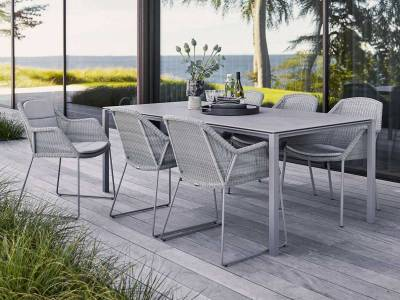 Cane-line Breeze Stuhl light grey, stapelbar