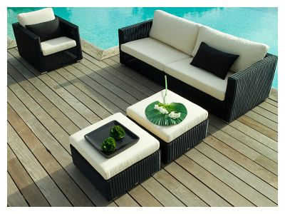 Cane-line Chester 3 Sitzer Loungesofa, Graphit