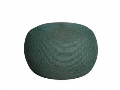 Cane-line Circle Hocker gross, Rund, Cane-line Soft Rope Dark Green