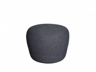 Cane-line Circle Hocker klein, konisch, Cane-line Soft Rope Dark Grey
