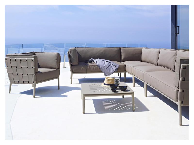 cane line conic couchtisch lavagrau 75x75 cm. Black Bedroom Furniture Sets. Home Design Ideas