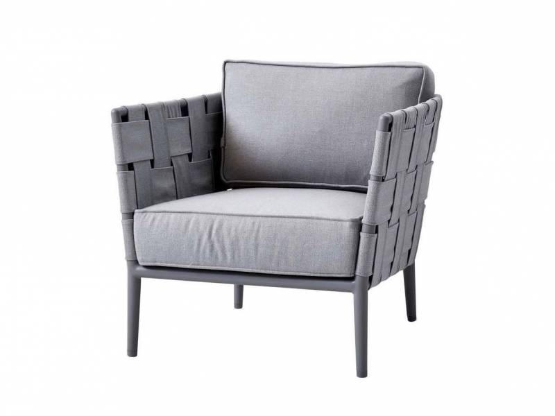 Cane-line Conic Lounge Sessel, Cane-line AirTouch, Light Grey