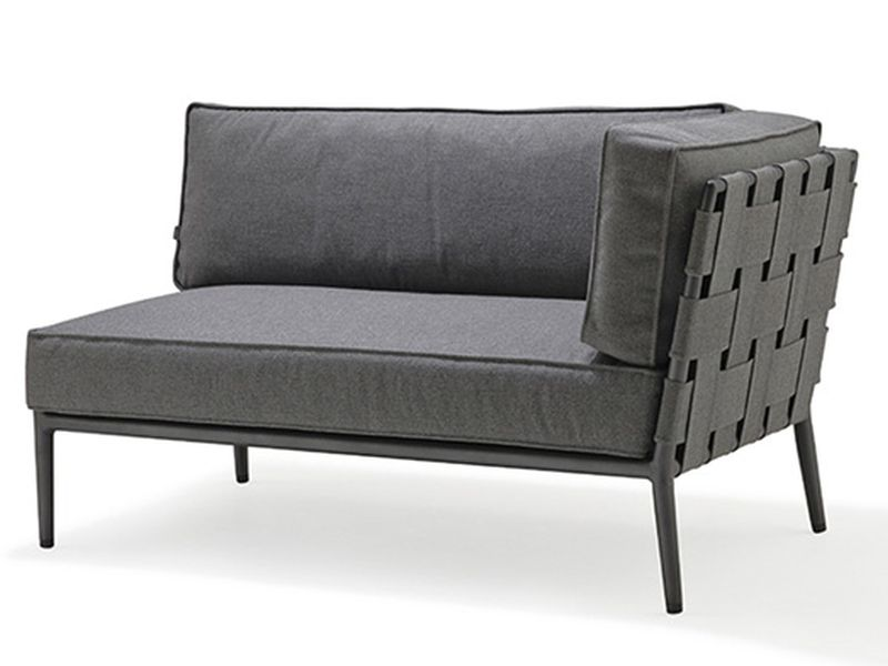 Cane-line Conic Softtouch 2 Sitzer Modulsofa links, grau
