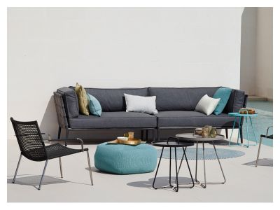 cane line conic softtouch 2 sitzer modulsofa rechts grau. Black Bedroom Furniture Sets. Home Design Ideas