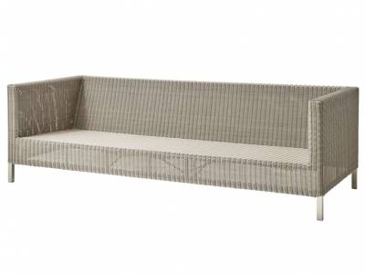 Cane-line CONNECT Lounge 3-Sitzer Sofa, taupe