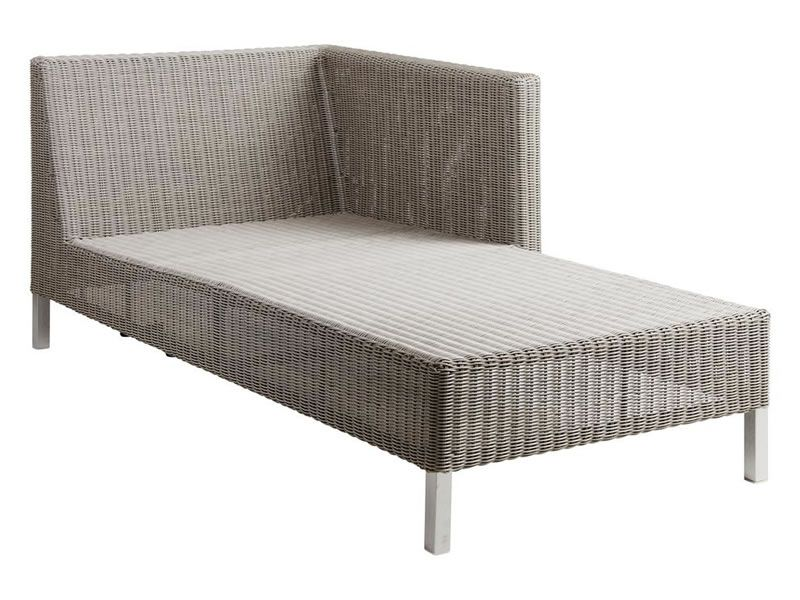 Cane-line CONNECT Lounge Chaiselounge Modulsofa links, taupe