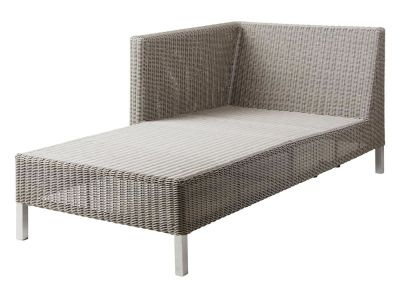 Cane-line CONNECT Lounge Chaiselounge Modulsofa rechts, taupe
