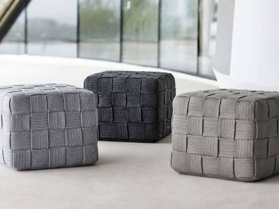 Cane-line Cube Hocker, Dark Grey
