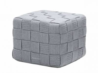 Cane-line Cube Hocker, Light Grey