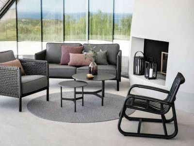 Cane-line Curve Loungesessel OUTDOOR, schwarz