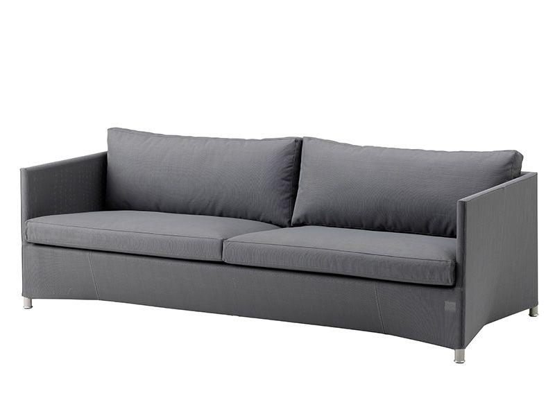 Cane-line Diamond 3-Sitzer Sofa inkl. Kissensatz, Tex & Cane-line Natté