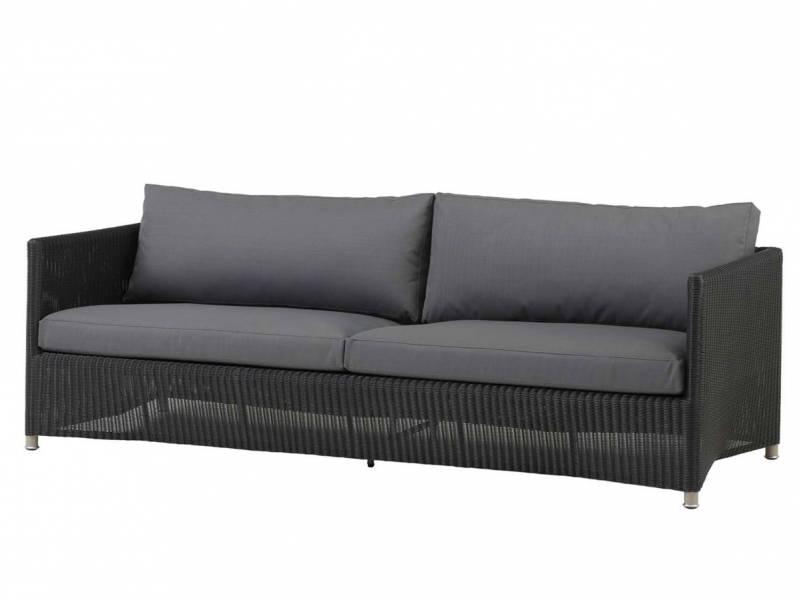 Cane-line Diamond 3-Sitzer Sofa inkl. Kissensatz, Weave