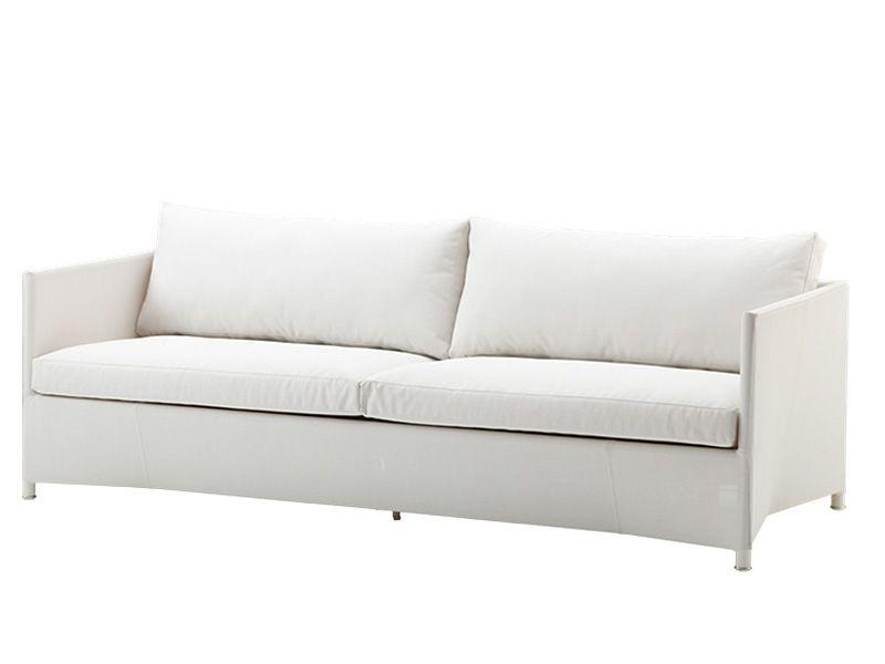 Cane-line Diamond 3-Sitzer Sofa inkl. Kissensatz (Weiß/Tex)
