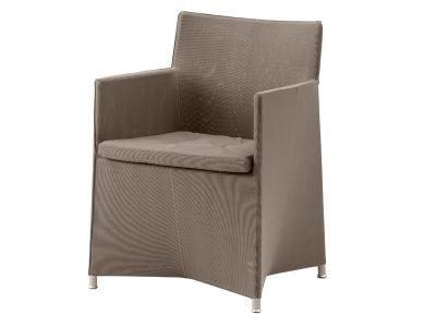 Cane-line Diamond Stuhl inkl. Kissen (Tex & Sunbrella - Braun)