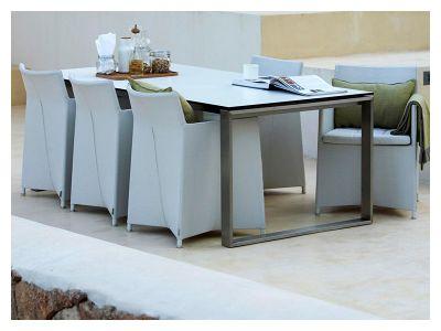 Cane-line Diamond Stuhl inkl. Kissen (Weiß/Tex)