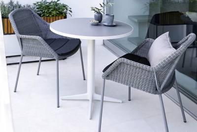 Cane-line Drop Bistrotisch White, versch. Tischplatten