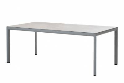 Cane-line Drop Esstischgestell, 200 x 100 cm, Light grey