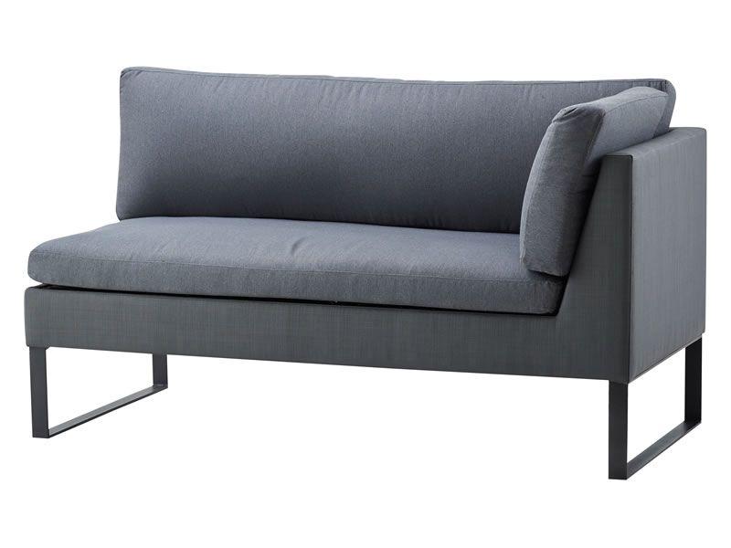Cane-line Flex 2-Sitzer Sofa links, inkl. Kissensatz, Grey