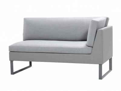 Cane-line Flex 2-Sitzer Sofa links, inkl. Kissensatz, Light Grey