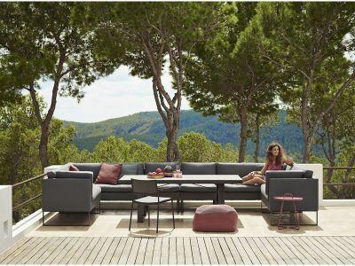Cane-line Flex 2-Sitzer Sofa rechts, inkl. Kissensatz, Grey