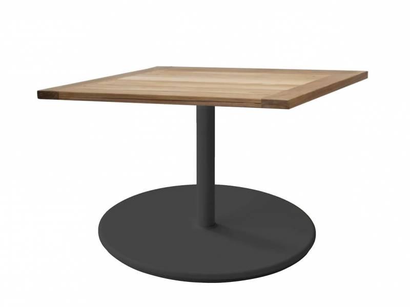 Cane-line Go Couchtisch Gestell Lava grey, gross (5044) 72x72 cm Tischplatte Teak