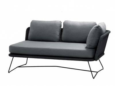 Cane-line Horizon 2-Sitzer Modulsofa links, Black