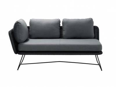 Cane-line Horizon 2-Sitzer Modulsofa rechts, Black