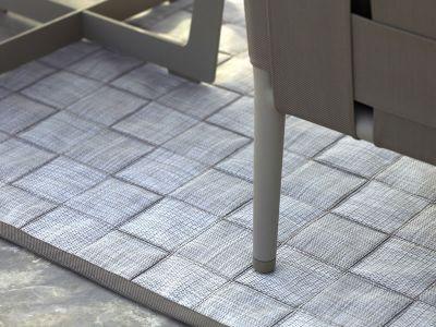 Cane-line I-am, outdoor Teppich 300x300cm, Braun/weiss
