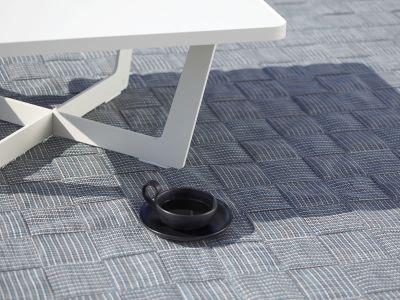 Cane-line I-am, outdoor Teppich 300x300cm, Grau/Türkis