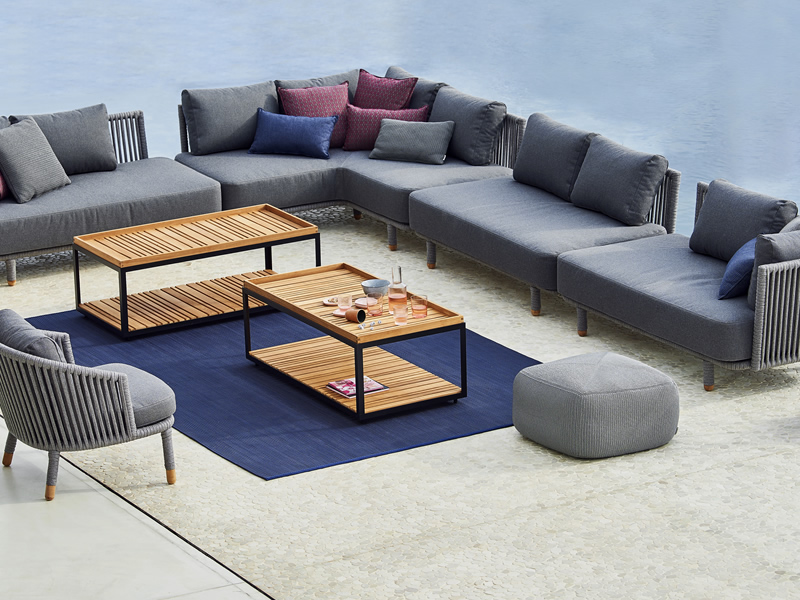 cane line infinity outdoor teppich 200 x 300 cm blau. Black Bedroom Furniture Sets. Home Design Ideas