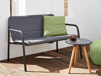 Cane-line Kapa 2-Sitzer Loungesofa, grau