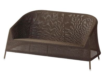 Cane-line Kingston 2 Sitzer Lounge Sofa, Mocca