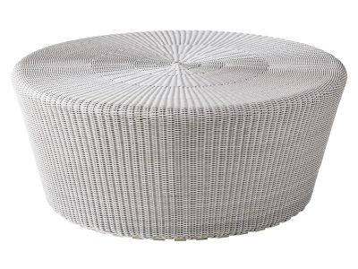 Cane-line KINGSTON Hocker, groß, White grey, Cane-line Weave