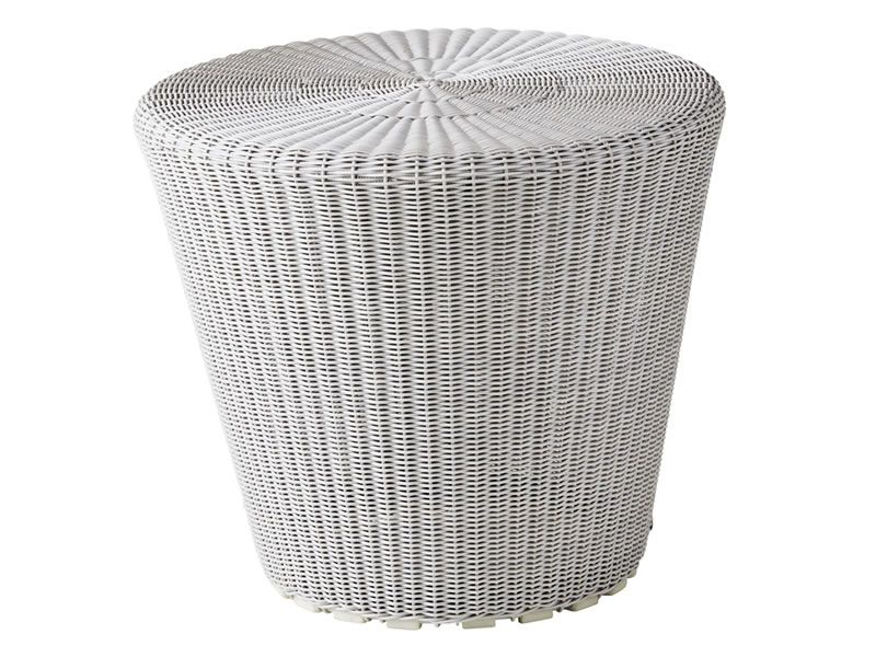 Cane-line Kingston Hocker, klein, Weiß-grau