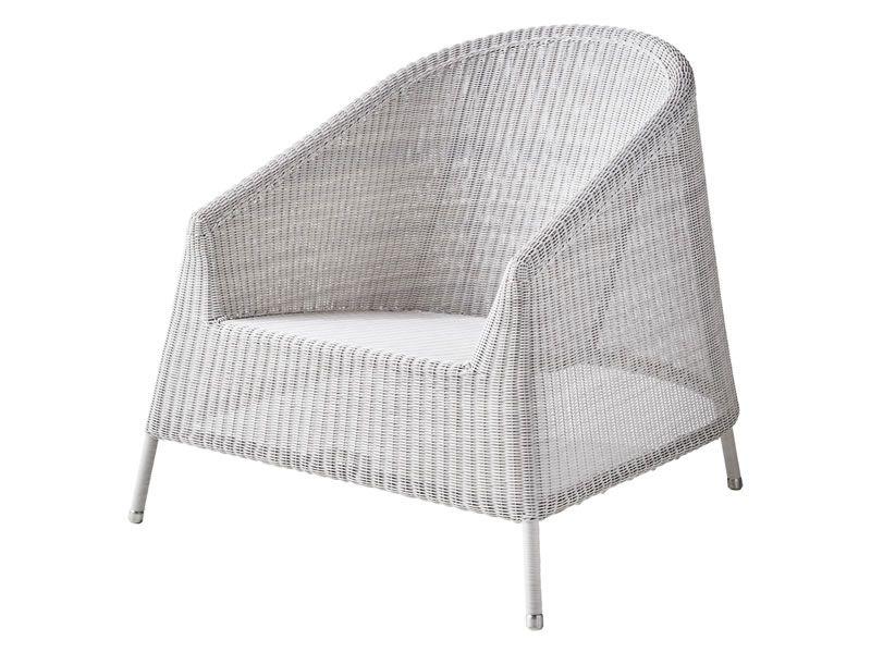 Cane-line Kingston Loungesessel, Weiß-grau