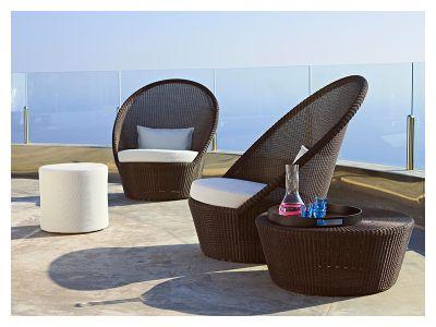 Cane-line Kingston Sunchair mit Rädern, Mocca