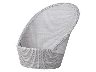 Cane-line Kingston Sunchair mit Rädern, Weiß-grau