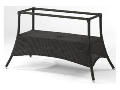 Cane-line Lansing Esstisch groß, Schwarz, Tischplatte wählbar
